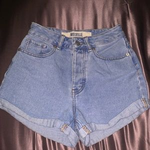 brandy melville RARE high waisted jean shorts